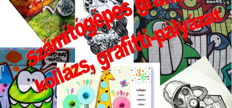Számítógépes grafika, kollázs, grafitti pályázat